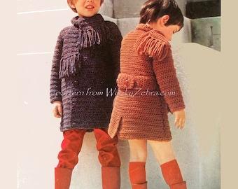 Crochet Overcoat PDF Pattern B019 from WonkyZebraBaby