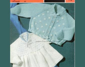Vintage Knit Pattern B003 PDF Matinee Coats from WonkyZebraBaby