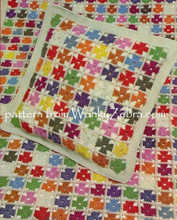 Häkeln Baby-Decke häkeln Quadrate Muster Kissen Muster | Etsy