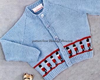 Vintage Baby and Toddler Cardigan Knitting Pattern PDF B138 from WonkyZebra