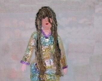 Dargiana mixed media art doll wall hanging