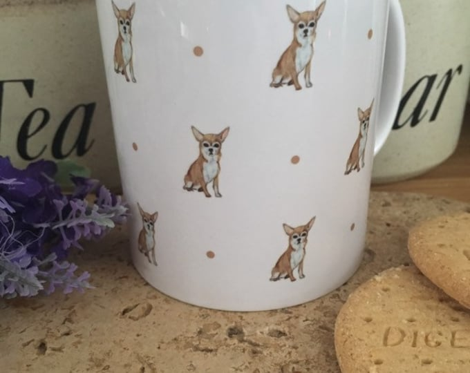 Chihuahua mug, for chihuahua lovers, chihuahua gift