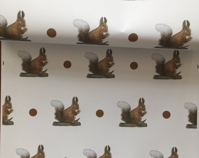 Squirrel , wrapping paper, gift wrap, for squirrel lovers, squirrels