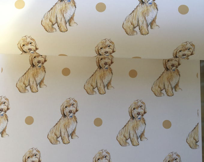 Cockapoo, wrapping paper ,gift wrap , for cockapoo lovers, for dog lovers, for dog owners, read description