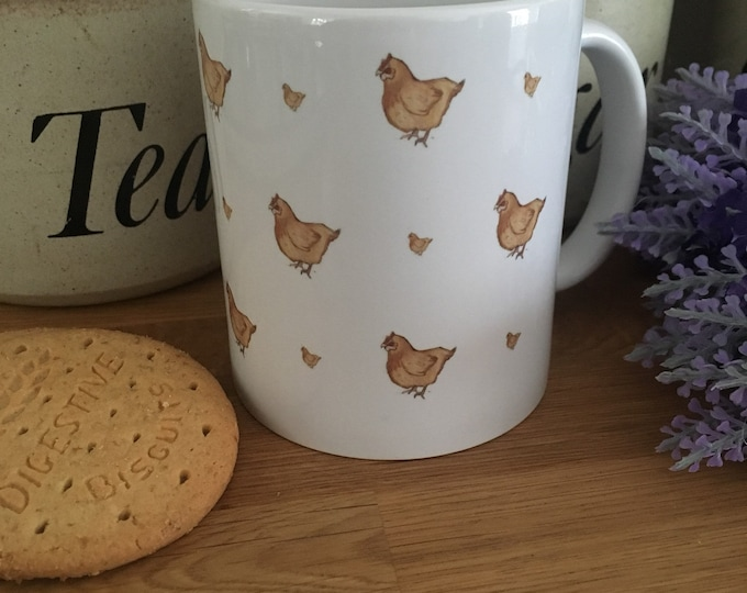 Chicken, chickens, mug, for chicken lovers, chicken gift, chicken mug