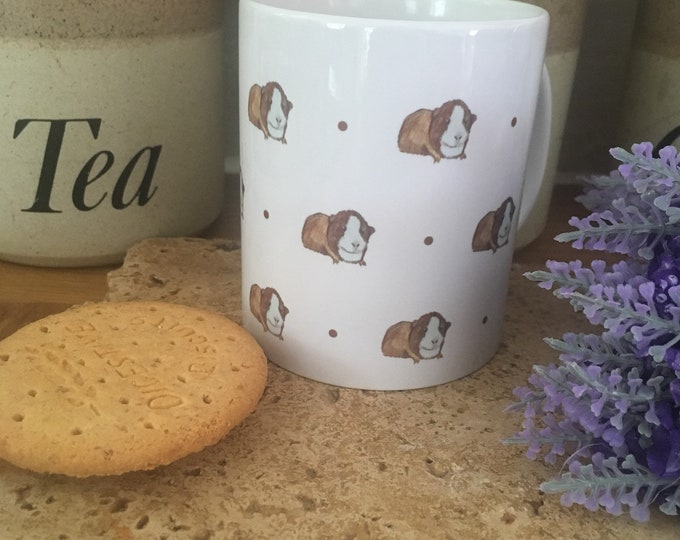 Guinea pig, mug, tea mug, for guinea pig lovers, guinea pig gift, guinea pig mug, mug and coaster set