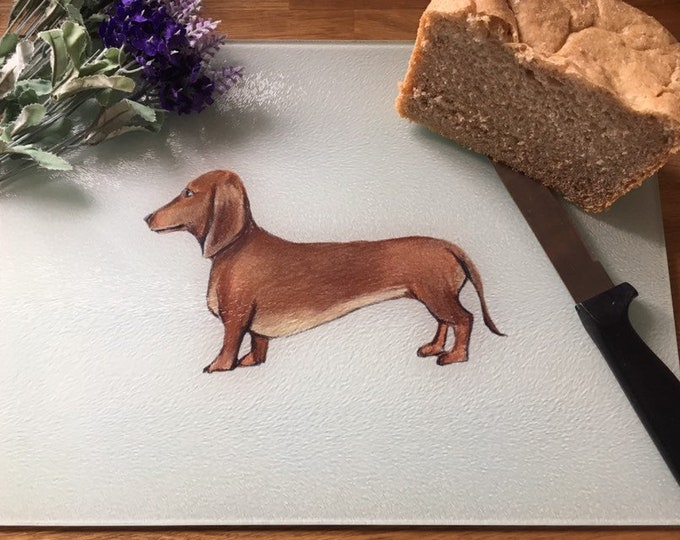 Sausage dog, daschund, chopping board, cutting board, for sausage dog lovers, sausage dog gift