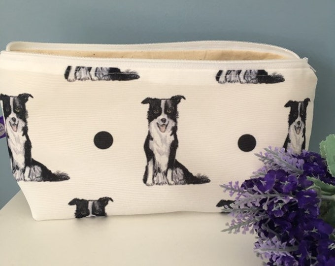 Border collie makeup bag, cosmetics bag, for border collie lovers, border collie gift