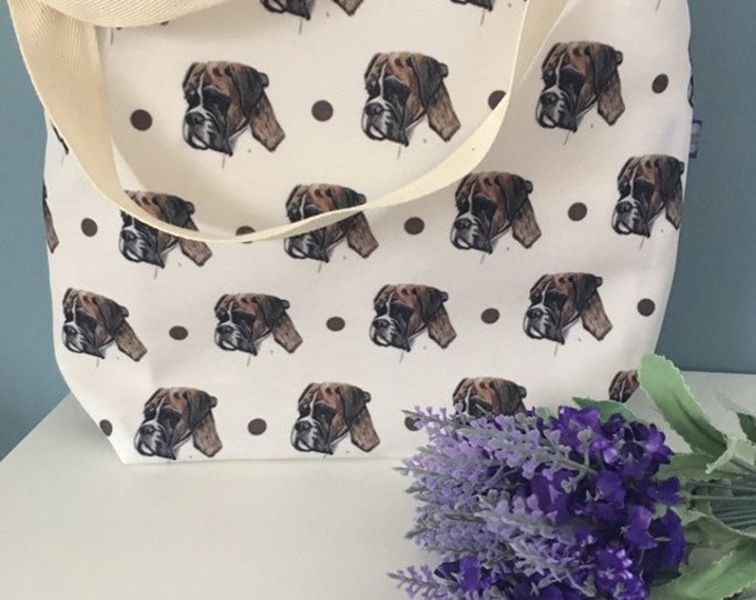 Boxer dog tote bag, for boxer lovers, boxer gift