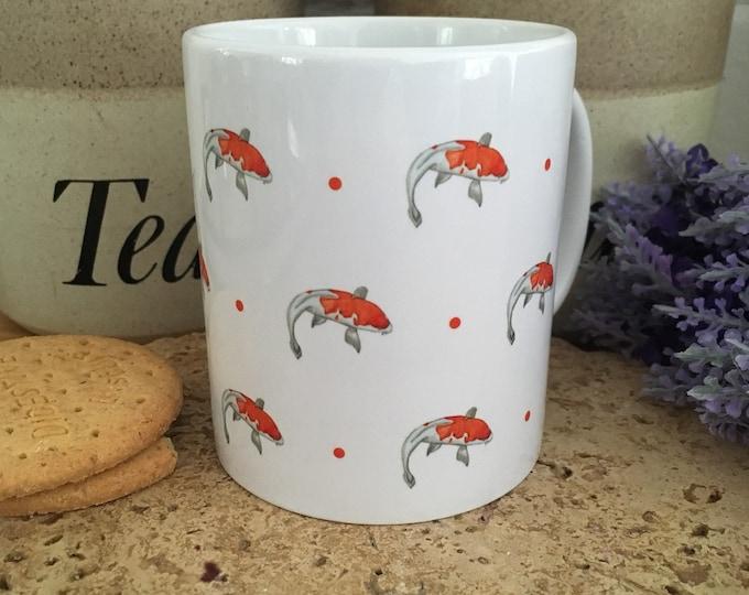 Coy carp mug, fish mug, for fishermen, for fish lovers, for coy carp lovers, coy carp gift, fisherman gift
