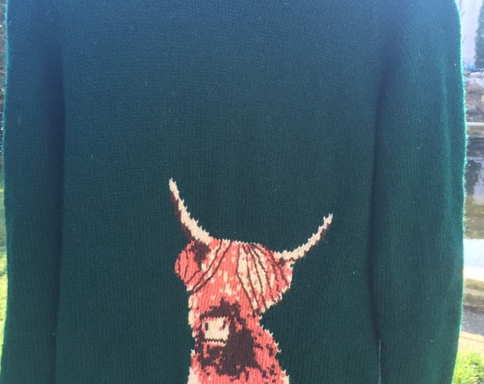 Highland cow knitting pattern, for highland cow lovers, for knitting lovers, for hairy cow lovers.
