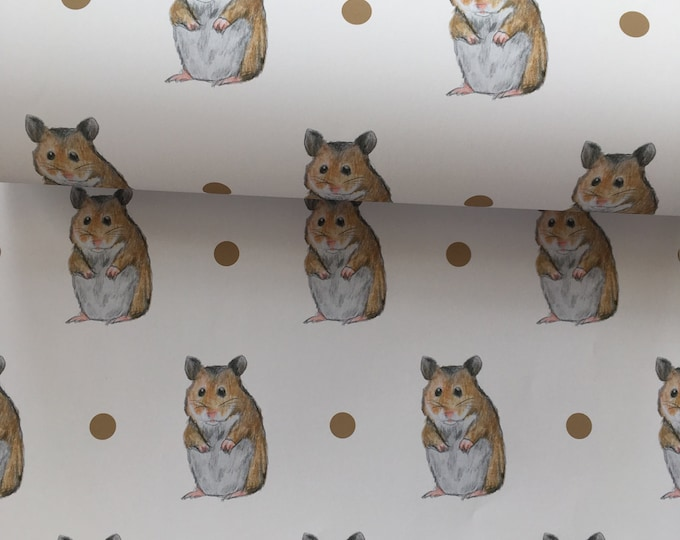 Hamster, wrapping paper, gift wrap, for hamster owners, for hamster lovers, hamsters, read description