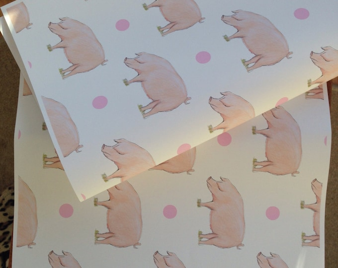 Pig wrapping paper, gift wrap, for pig lovers, for pig farmers, pigs, read description