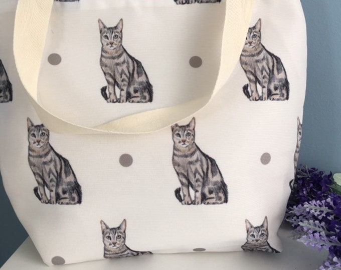 Cat tote bag, pussycat tote bag, for cat lovers, cat gift