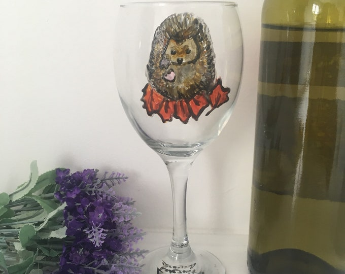 Hedgehog, wine glass , for hedgehog lovers, for wine lovers, hedgehog gift, gin glass, for gin lovers