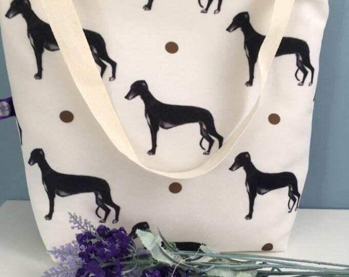 Greyhound , tote bag, bag, for greyhound lovers, greyhound gift