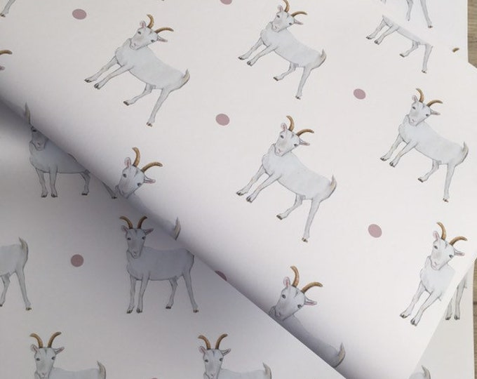 Goat wrapping paper , gift wrap, for goat lovers, for goat farmers, goat gift, read description