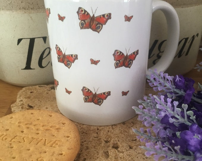 Butterfly, butterflies , mug, tea mug, for butterfly lovers, butterfly gift, butterfly mug