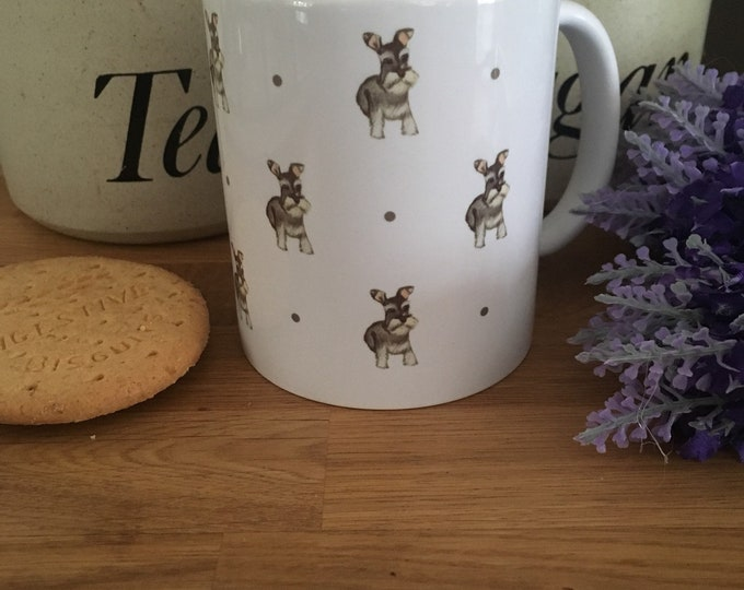 Schnauzer,mug, tea mug, for dog lovers , for schnauzer lovers, schnauzer gift, schnauzer mug