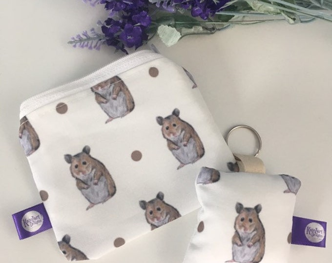 Hamster, purse, keyring, set, for hamster lovers, hamster gift