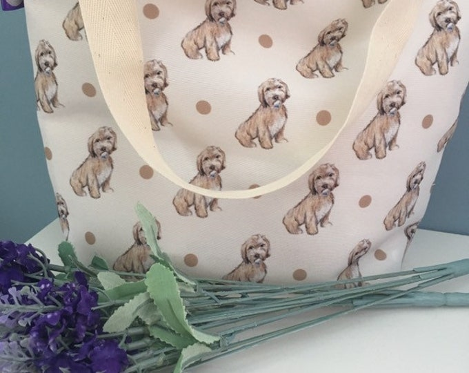 Cockapoo tote bag, day bag, for cockapoo lovers, cockapoo gift
