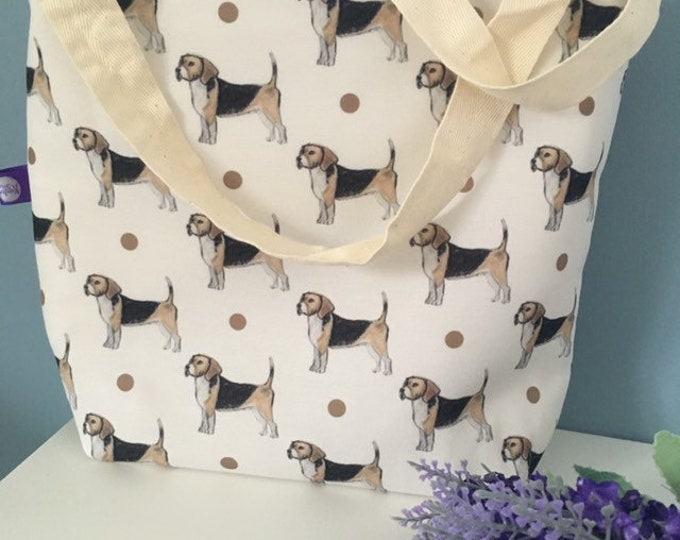 Beagle tote bag, for beagle lovers , beagle gift