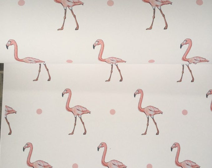 Flamingo wrapping paper, gift wrap, for flamingo lovers, read description