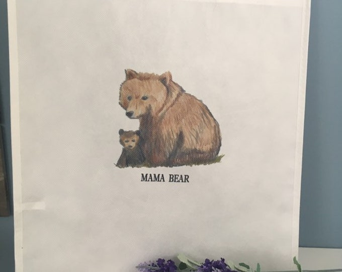 Mama bear tote bag, for bear lovers, bear gift, Mother's Day gift