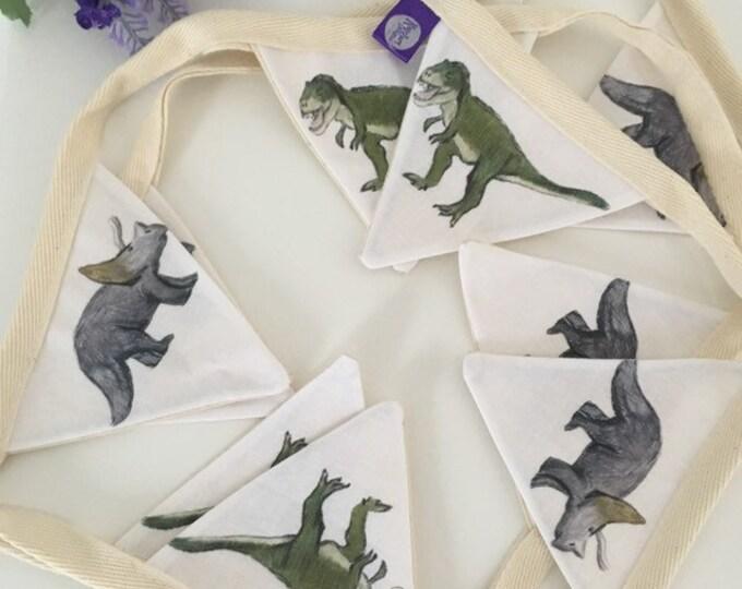 Dinosaur, dinosaurs, bunting, garland, for dinosaur lovers, dinosaur gift