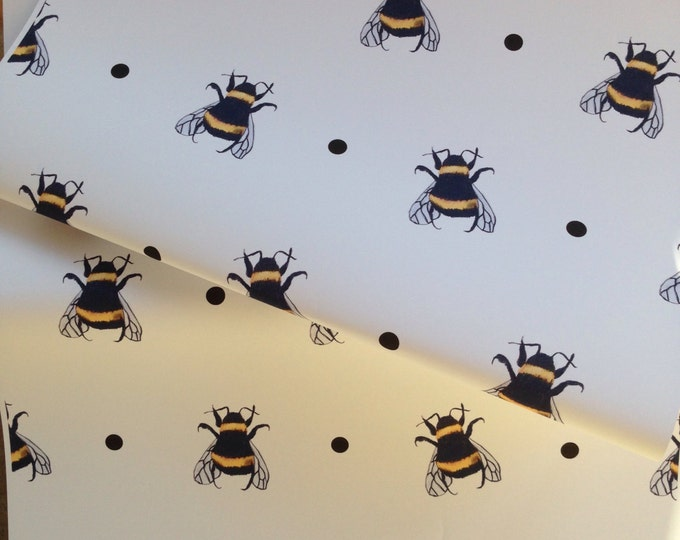 Bumble bee,bee wrapping paper ,gift wrap for bee lovers, for bee keepers, read description
