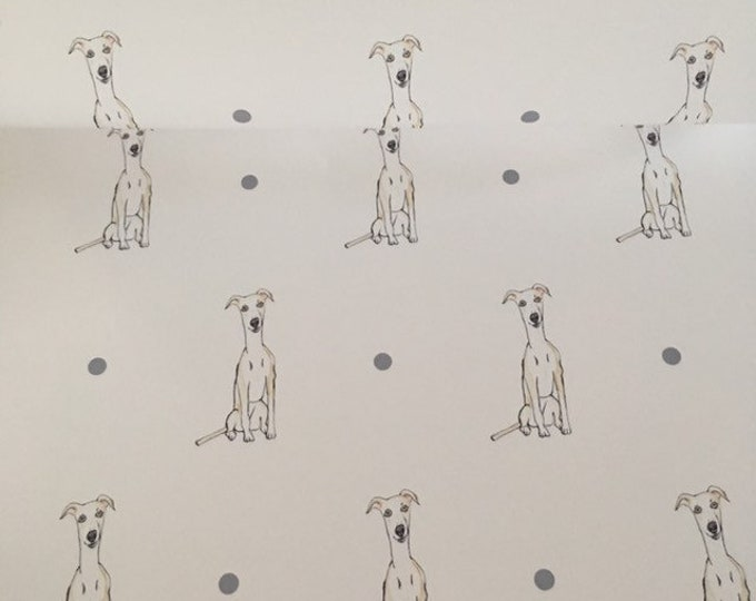Whippet, wrapping paper , gift wrap, for whippet lovers, whippet gift, read description, FOR SMALLER GIFTS