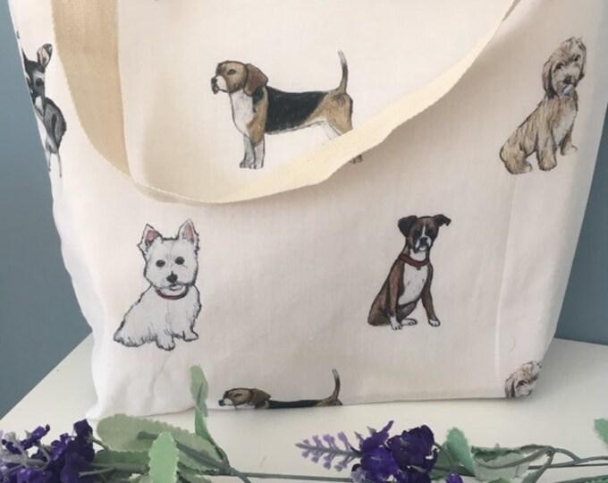 Dog bag, dog tote bag, for dog lovers, dog gift