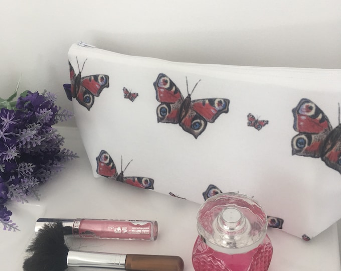Butterflies, butterfly, makeup bag, cosmetics bag, for butterfly lovers, butterfly gift