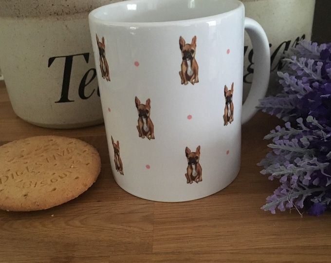 Frenchie, french bulldog, mug, for french bulldog lovers, french bulldog gift, french bulldog mug, mug and coaster set