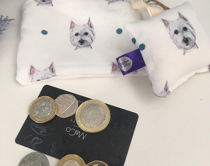 Westie, purse, coin purse, keyring set, for Westie lovers, Westie gift