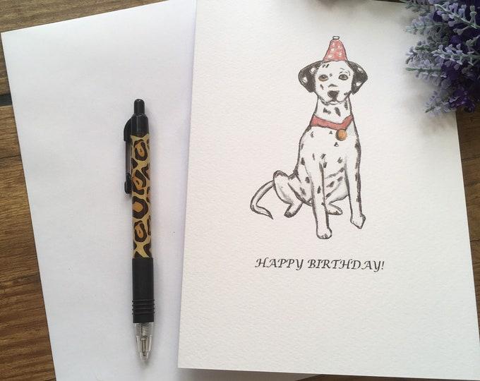 Dalmatian card, birthday card, greetings card, for Dalmatian lovers, Dalmatian gift