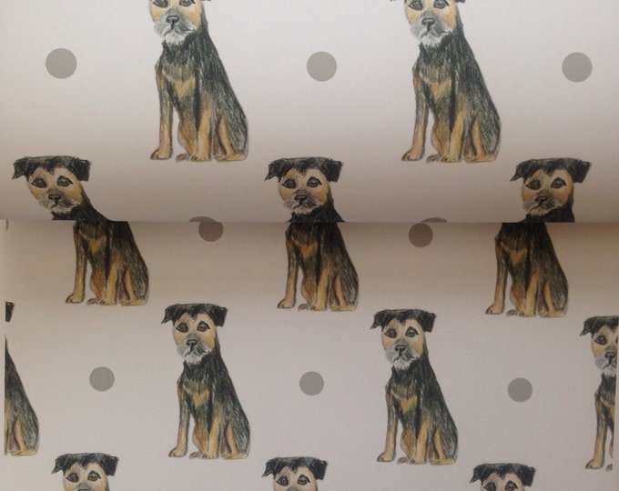 Border terrier , wrapping paper, gift wrap, for border terrier lovers, for dog owners, for dog lovers, read description