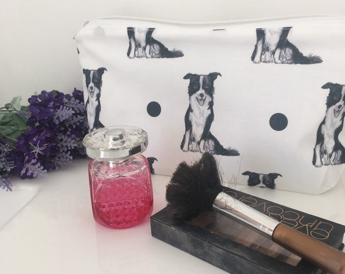 Border collie makeup bag, cosmetics bag, for border collie lovers, border collie gift