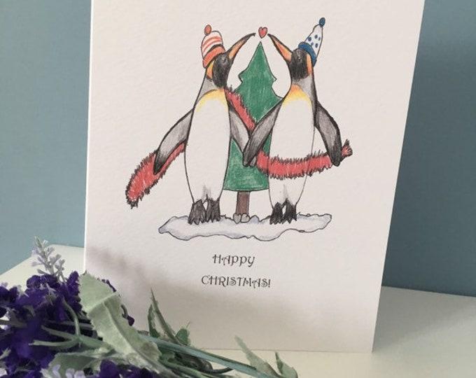 Penguin card, Christmas card, for penguin lovers, penguin gift