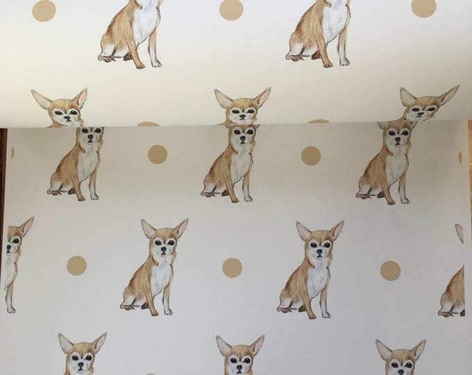 Chihuahua , wrapping paper, gift wrap, for chihuahua owners, for dog lovers, read description