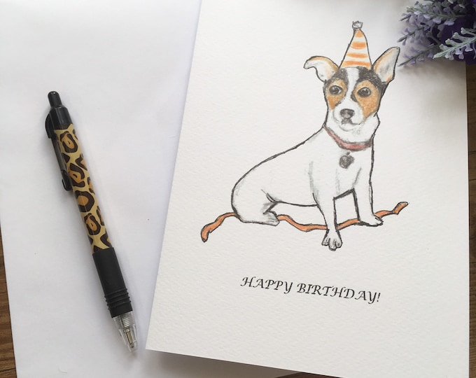 Jack Russell, card, birthday card, for jack Russell lovers, jack Russell gift