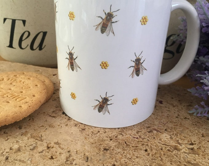 Honeybee mug, bee mug, honeybees, honeybee gift, for bee keepers , for bee lovers