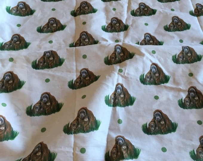 Orangutan fabric, cotton fabric, for orangutan lovers,  orangutan gift