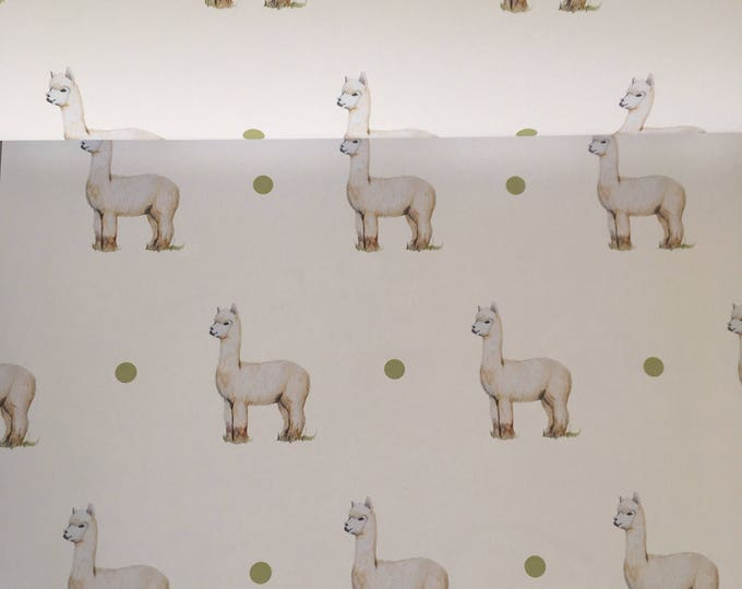 Alpaca, alpacas, wrapping paper, gift wrap, for alpaca lovers , alpaca gift