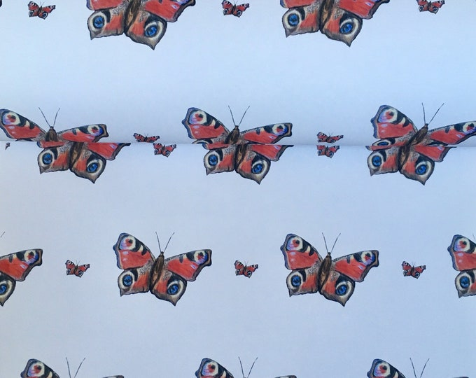 Butterfly, wrapping paper, gift wrap, for butterfly lovers, for smaller gifts, read description,