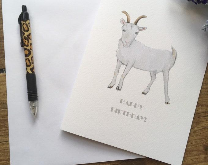 Goat card, birthday card, for goat lovers, goat gift