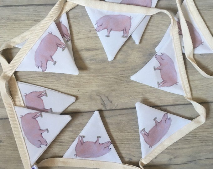 Pig, bunting, pigs, for pig lovers, for pig farmers, if gift