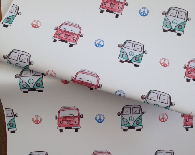 Campervan ,wrapping paper, gift wrap,for campervan lovers,for campervan owners, campervans, for Father's Day, read description