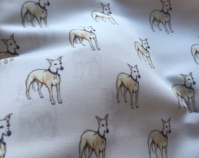 Whippet, fabric, polycotton fabric, for whippet lovers, whippet gift