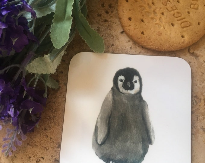 Penguin, baby penguin coasters, for penguin lovers, penguin gift, home gift, sets of 2,4, or 6